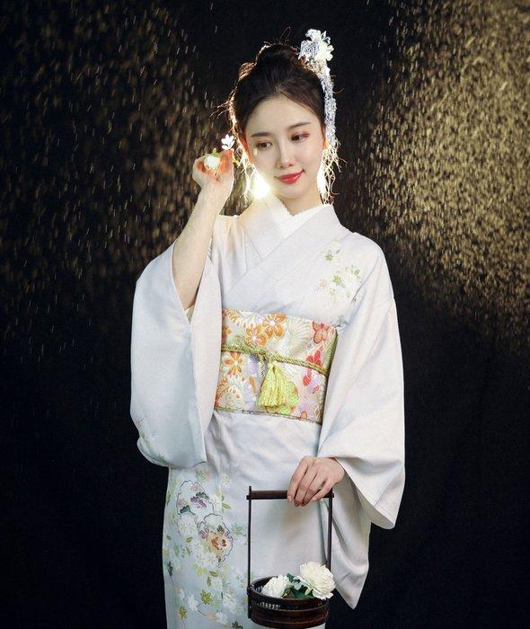 09少女日本和服山茶清新攝影復古
