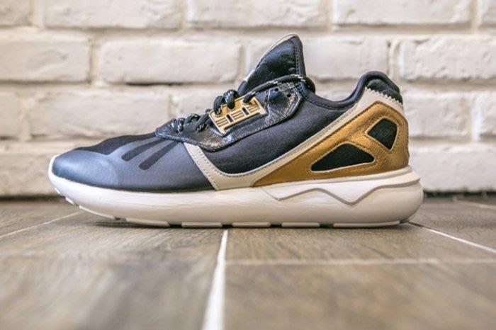 【美國鞋校】現貨 Adidas Tubular Runner B35639 慢跑鞋 黑金配色 男鞋