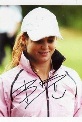 2013 LPGA 公開賽冠軍 裙襬搖搖 Beatriz Recari 親筆簽名照 4*6 只有一張 曾雅妮加油
