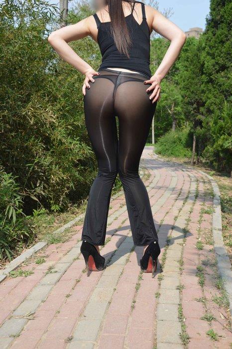 雙子夜【B95】【性感透明牛奶絲開襠/不開襠長褲】緊身/微喇※光亮絲滑打底褲※男女適穿