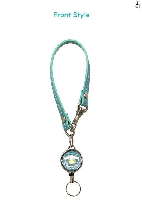 41+ 現貨免運費  大耳狗 喜拿 日本製 捲軸鑰匙的手拿帶 吊飾 鑰匙圈 皮質手環扣 小日尼三