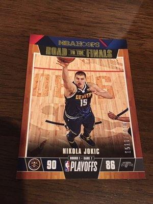Nikola Jokic 季後賽限量  籃球卡 限量 999張 NBA Hoops 非Prizm