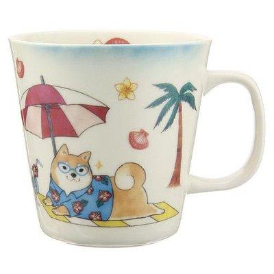 日本製  可愛柴犬度假 瓷杯     會心一笑的圖案帶來生活中的喜悅
