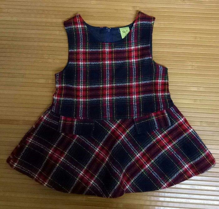 格紋兒童背心裙