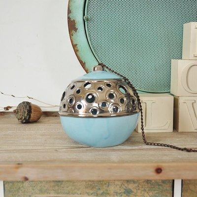 宏美飾品館~外貿高溫陶瓷鏤空燭臺掛飾 花園裝飾品孤品