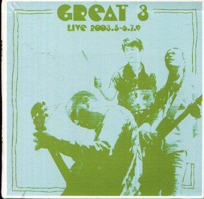 K - GREAT 3 - LIVE 2003.5-6.7.9 - 日版 - NEW