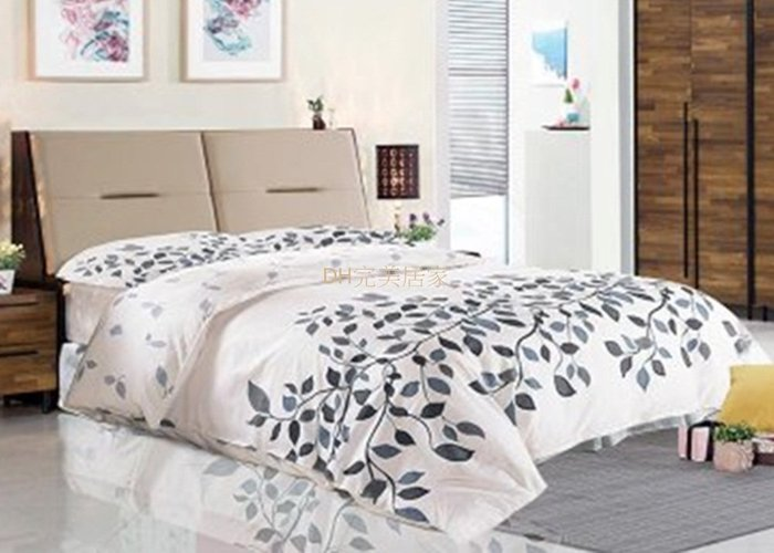 【DH】商品貨號N523-1商品名稱《卡梭》五呎雙色被櫥雙人床台組含床封底(圖一)備有六尺。靠墊可掀開置物。台灣製可訂做。主要地區免運費