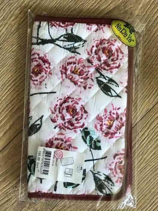 全新泰國曼谷包 Naraya 玫瑰花氣質款長夾/皮夾/護照夾