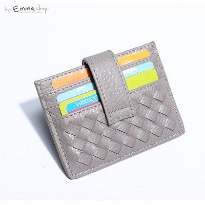 EmmaShop艾購物-韓國手工編織通用名片夾/卡層夾/男女通用/手拿包