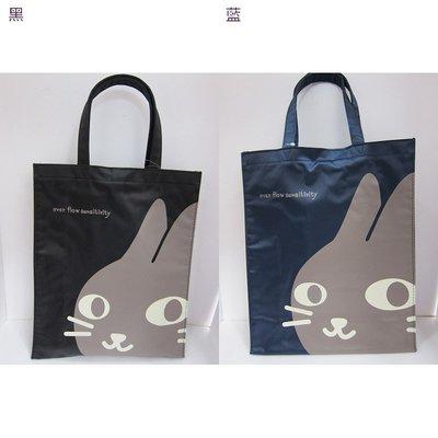 【棠貨鋪】日本 over flow sensitivity 貓咪 短柄手提袋 便當袋 購物袋 - 2色