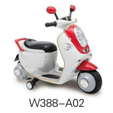 馬克文生-MINI E-SCOOTER兒童電動車(白紅)W388