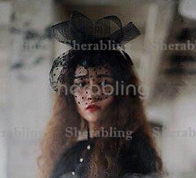 [PROP-H_00192]黑色網紗蝴蝶結頭飾黑色點點面紗性感舞會派對髮飾