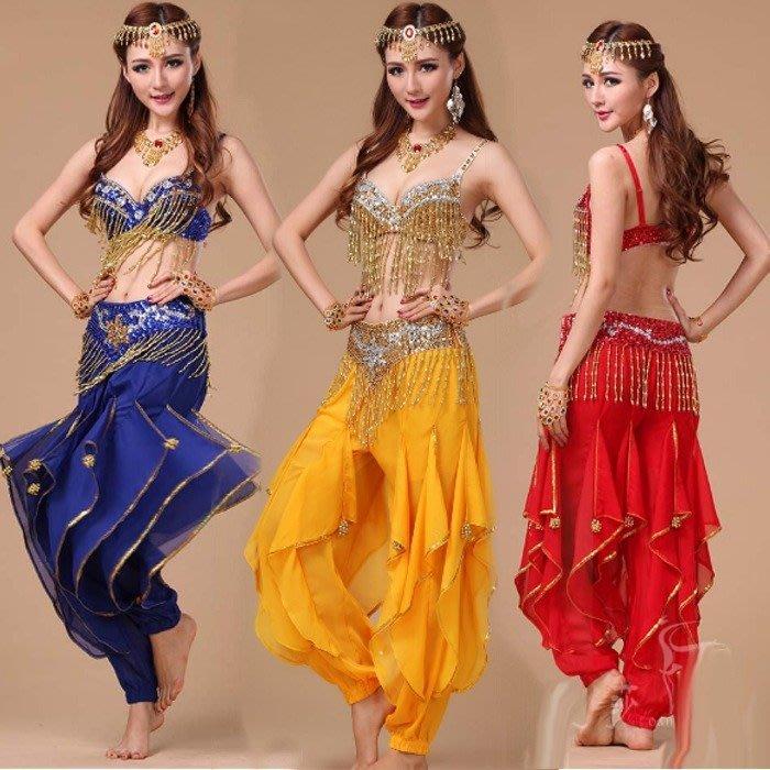 5Cgo【鴿樓】含稅 35722080662印度風如意胸衣肚皮舞套裝尼泊爾服飾部落印度舞演出服印度舞裙舞衣腰封春酒尾牙
