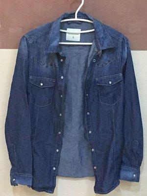 。☆二手☆。NET牛仔長袖襯衫(6)//160/80A