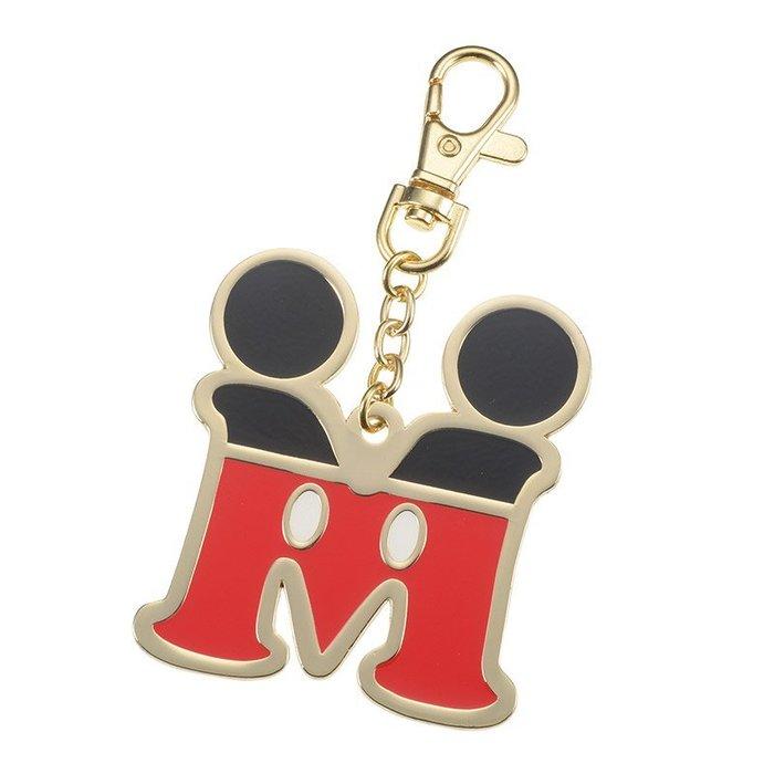 日本東京迪士尼商店 維尼/米奇字母鑰匙圈