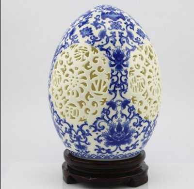 青花瓷雙重鏤空福蛋(Fortune egg blue and white porcelain)