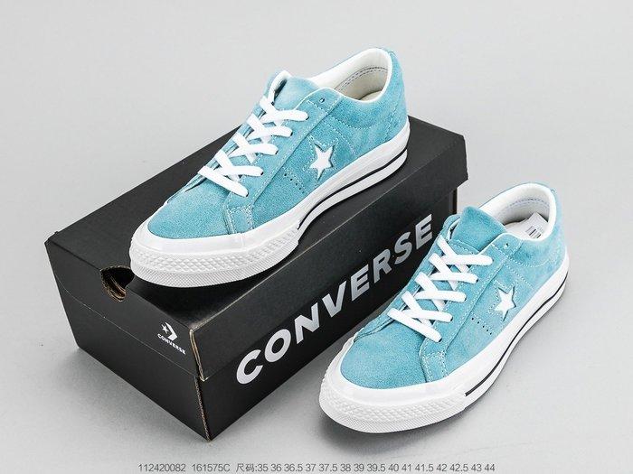 匡威Converse One Star 天藍色男女款情侶低幫帆布鞋 運動鞋 休閒鞋 低幫鞋 帆布鞋 男女鞋