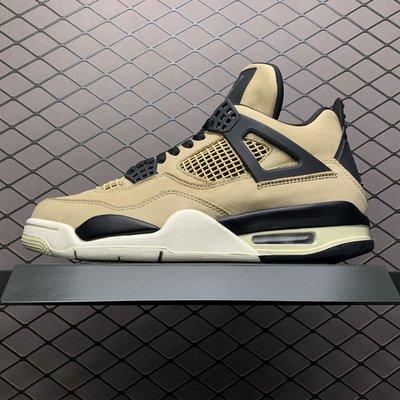 "Air Jordan 4 ""Mushroom AJ4 卡其蘑菇 休閒運動 籃球鞋 AQ9129-200 男鞋"