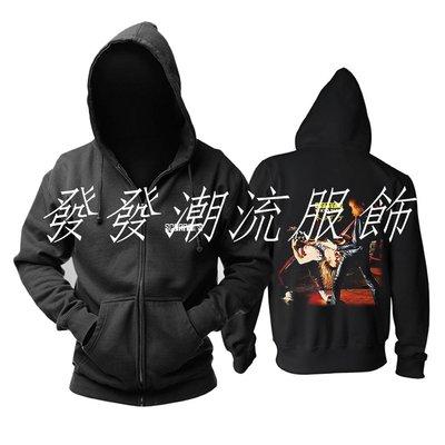 發發潮流服飾蝎子樂隊Scorpions Tokyo Tapes專輯封面印花加絨外套連帽衛衣