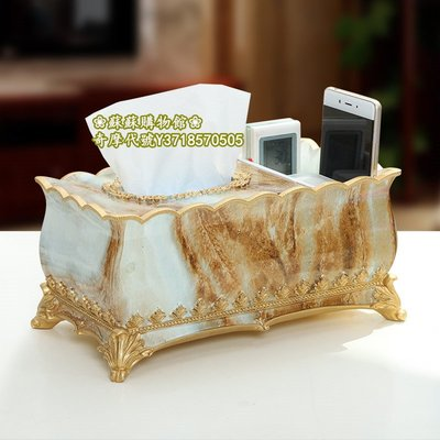 ❀蘇蘇購物館❀創意收納盒 多功能面紙遙控器收納 歐式桌麵茶幾面紙盒
