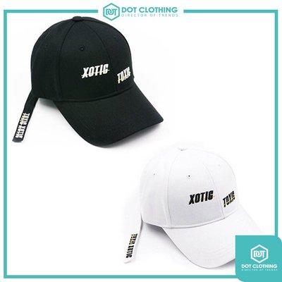 DOT聚點 Xotic Gear Cap 黑 白 TOXIC 黃線 底線 長帶帽 老帽 復古帽 男女 XGH191002