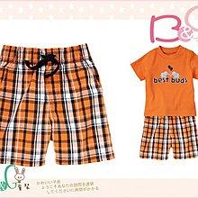 【B& G童裝】正品美國進口GYMBOREE Pull-On Plaid Short 橘色格仔短褲12-18-24mos