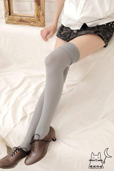 【拓拔月坊】日本製 MORE 春夏 70丹 銀蔥、素面上擺皺皺 膝上襪 過膝襪~現貨!