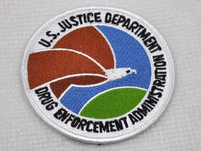 美國司法部禁毒局/Drug Enforcement Administration/DEA徽章臂章