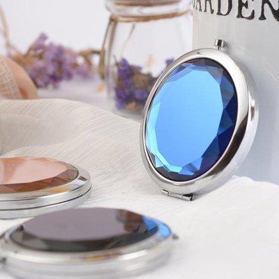 口袋便攜小鏡子迷你隨身鏡可愛個性創意小號化妝鏡可折疊學生圓形