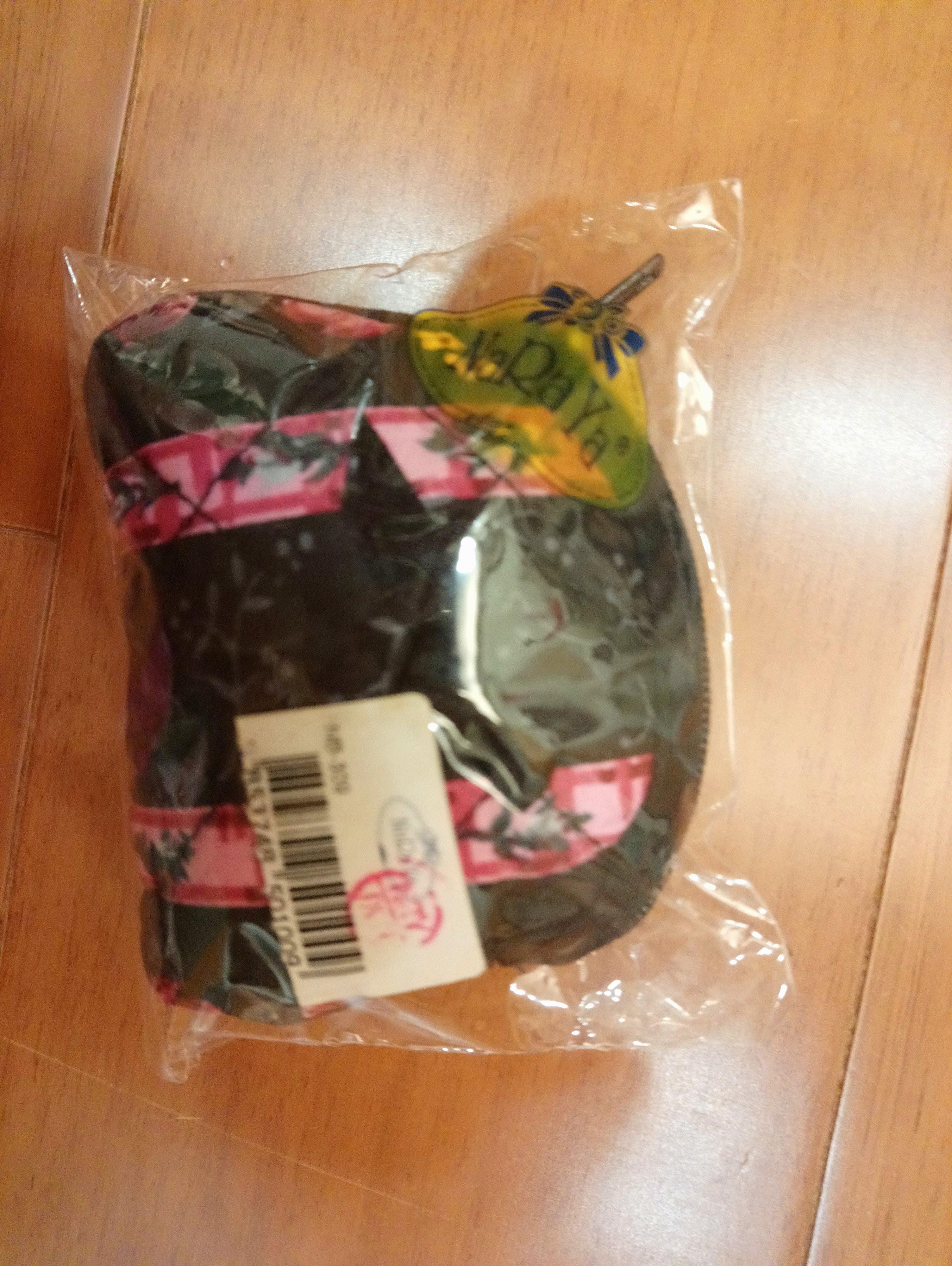 《NaRaYa》曼谷包 零錢包 收納包 小圓 拉鍊 黑 紅 花