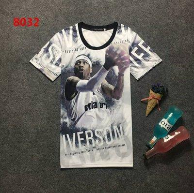 🔥戰神Allen Iverson艾佛森短袖T恤上衣🔥NBA運動 76隊Adidas愛迪達籃球服T-shirt男305