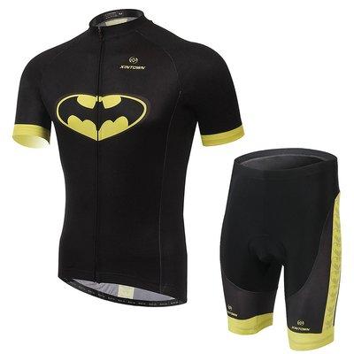 【購物百分百】2015款 男女 蝙蝠俠 自行車/腳踏車車衣 騎行服 夏季短袖套裝 車衣車褲短套裝 吸濕排汗單車服-款款