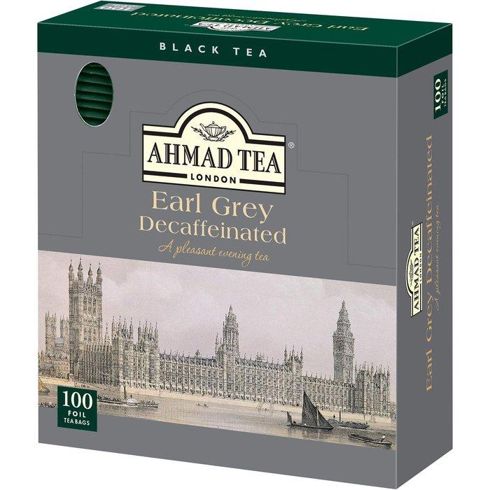 《FOS》英國 AHMAD TEA 伯爵茶 100包入 金賞 上班族 天然 奶茶 健康 團購 女生 貴婦 下午茶 熱銷