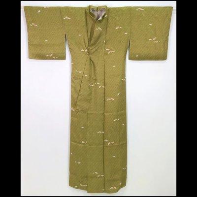 【茶】日本和服  小紋 1-841*3765