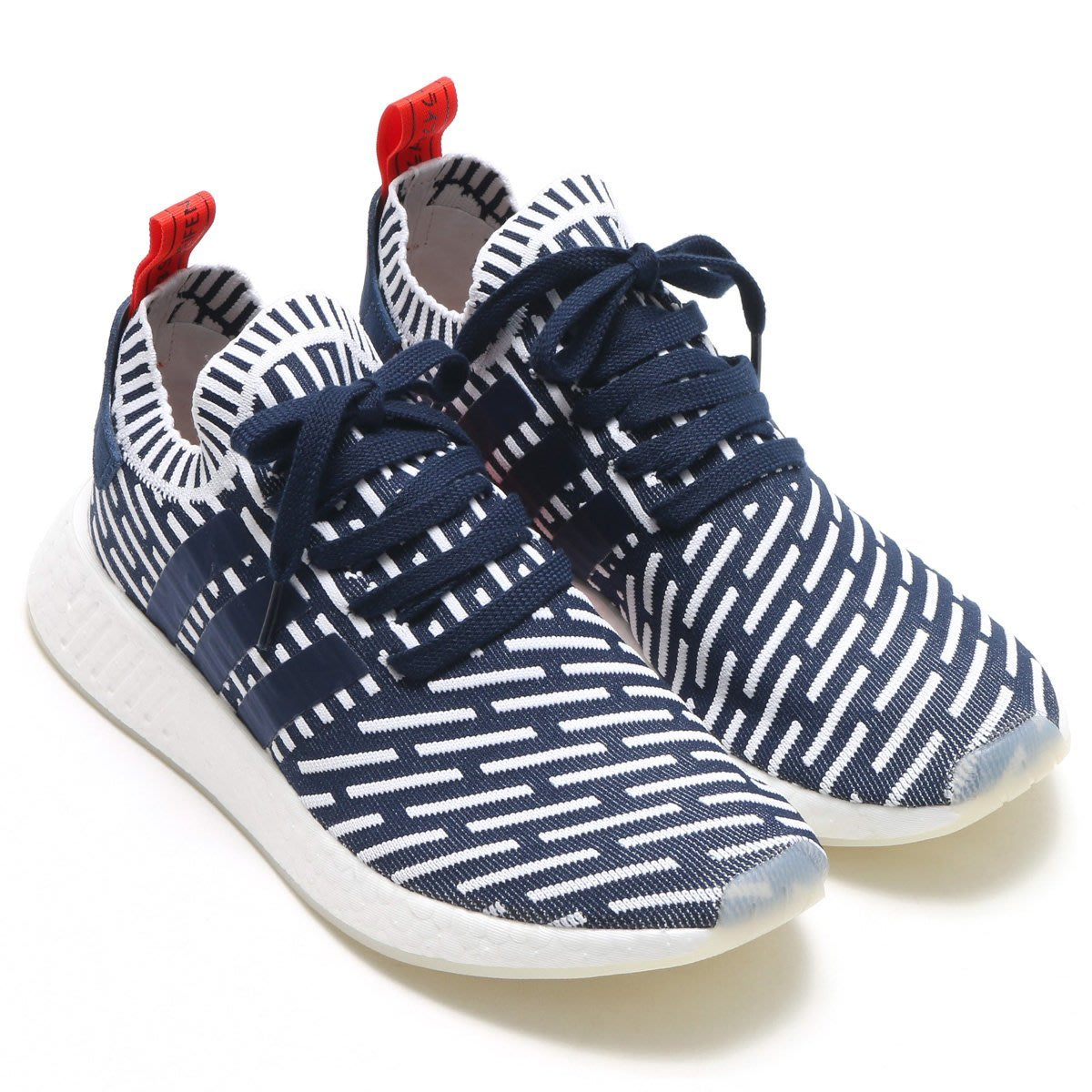 size 40 a70c2 9ad8b CodE= ADIDAS ORIGINALS NMD R2 PK 編織慢跑鞋(藍白紅)BB2909 ...