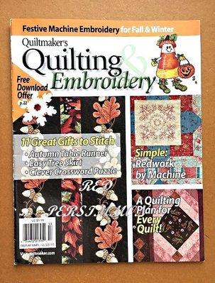 紅柿子【英文彩色版• Quilting & Embroidery 2010年拼布作品集 】全新•特售50元•