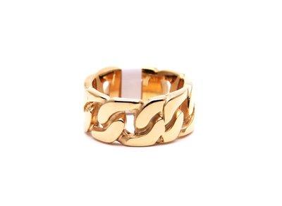 三本家~18K gold-plated ring 復古百搭扭鍊戒指男女