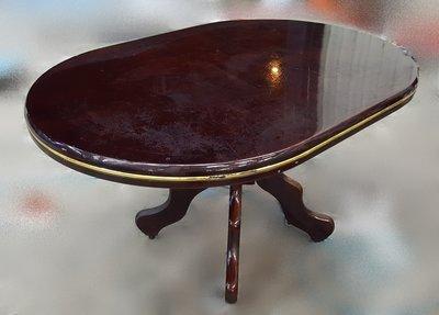 宏品二手家具 台中二手傢俱 A71512胡桃餐桌* 洽談桌 會議桌 中古麻將桌 電腦桌 書桌 工作桌 寫字桌
