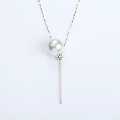 韓國❤️百搭 珍珠 鑽飾 金屬 垂墜 造型 長鍊 項鍊 【Verinas韓系美飾】