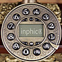 INPHIC-歐式復古電話機實木有繩座機復古時尚附來電顯示家居裝修