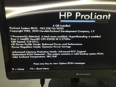 491325-371 HP ProLiant DL380 G6 Xeon QC E5520 2.27G 8M 2u Server 機架式伺服器