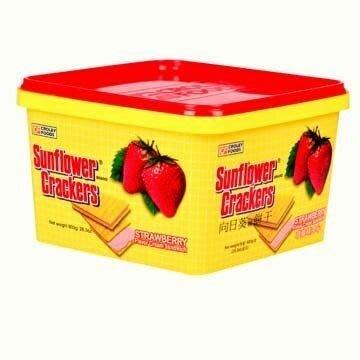 【苡琳小舖】【向日葵】草莓夾心餅乾桶 800g