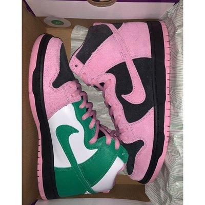 """全新爆款Nike SB Dunk High """"Invert Celtics"""" 黑粉綠 休閒鞋 籃球鞋 CU7349-00"""