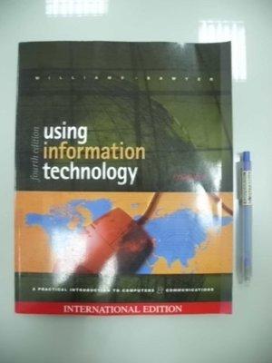 6980銤:A12-5cd☆2001年『using information technology 4/e』《MGH》