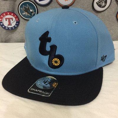 [今天不洗頭?]47BRAND Tampa Bay Rays 坦帕灣光芒 水藍 logo 後扣棒球帽 snapback