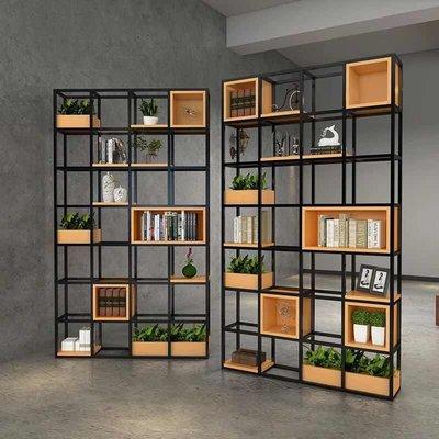 訂製 美式隔斷loft工業風屏風辦公室書架餐廳玄關格子架鐵藝隔斷置物架