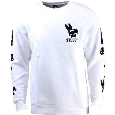 [WESTYLE] Stussy Stay Paid Crewneck Sweater 白 大學T
