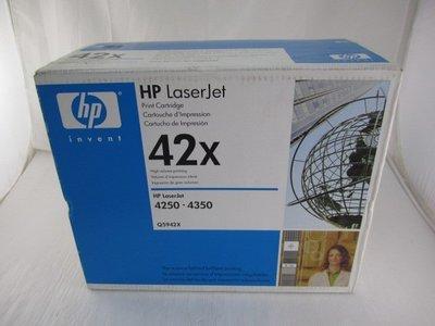 (全新品)HP Q5942X 原廠碳粉匣(適用LJ4250/4350)庫存品出清*只要3500元*(FD151)