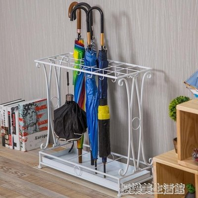 雨傘架家用創意酒店大堂歐式鐵藝落地雨傘收納架子門廳辦公雨傘桶 YDL