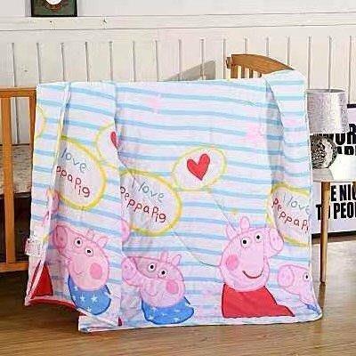 兒童涼被 佩佩豬冷氣被 空調被 幼兒園夏季被 薄被(110cm*150cm)